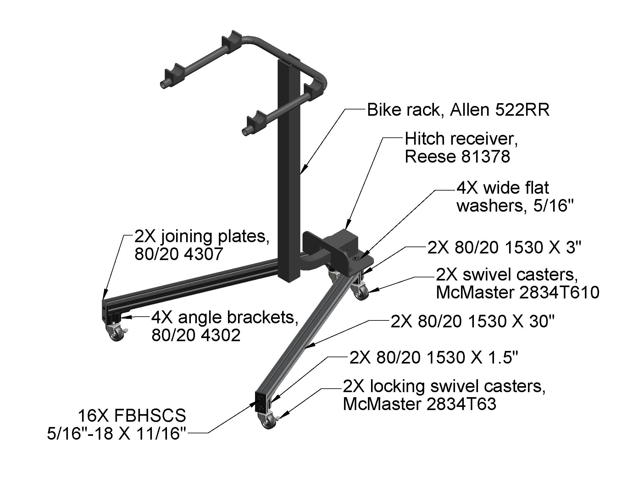 Mini Project Hitch Receiver Bike Rack Stand